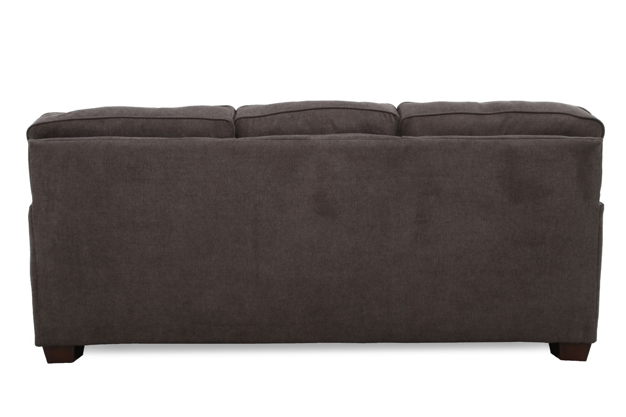 lane sleeper sofa queen custom leather online casual 82 quot in dark granite gray