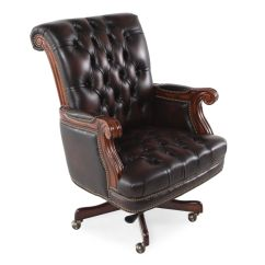 Realspace Fosner High Back Bonded Leather Chair Modern Dining Chairs For Sale Brown Studded Office Home