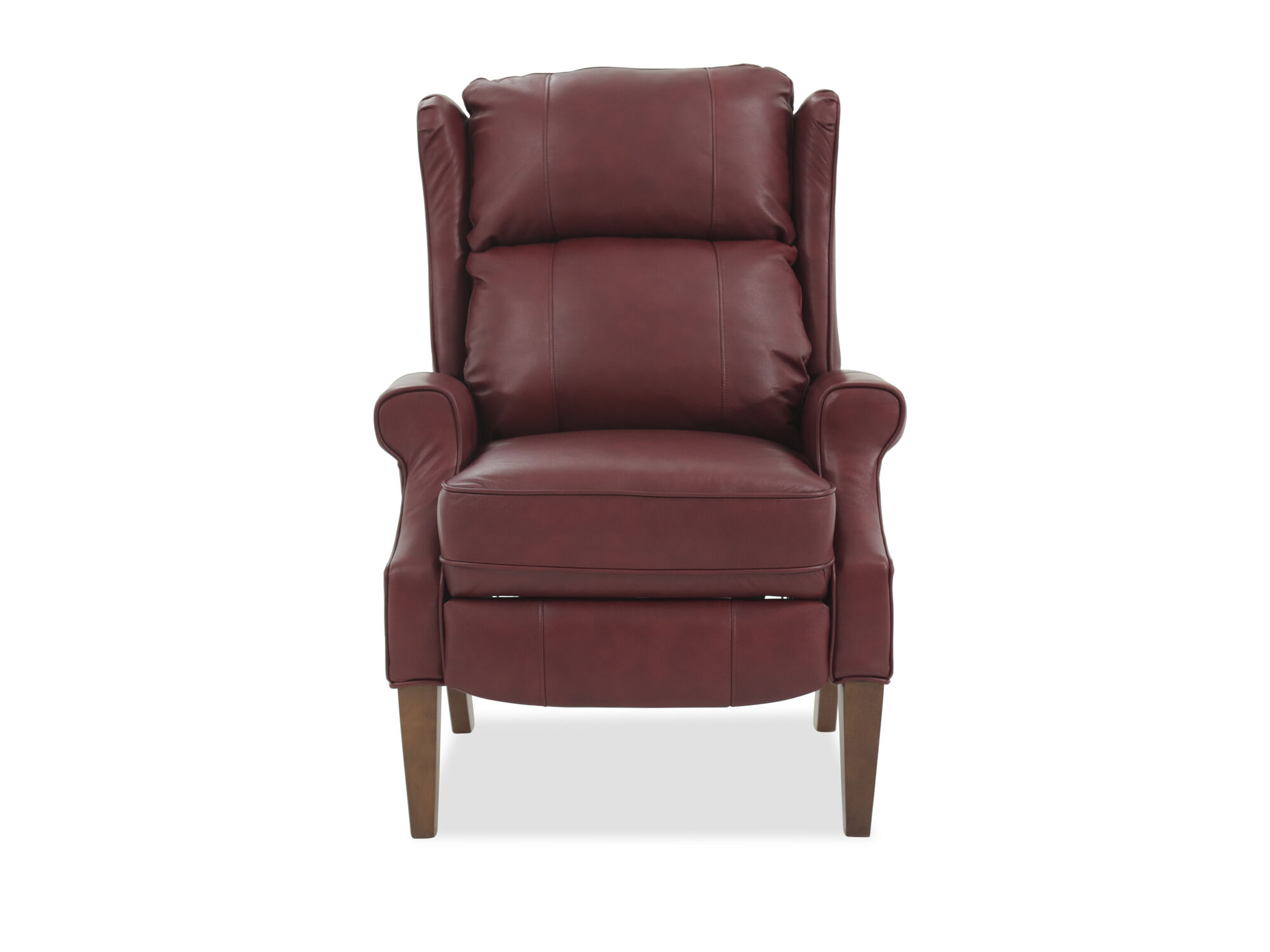 red leather wingback chair adams mfg adirondack stacking 30 5 quot pressback recliner in mathis