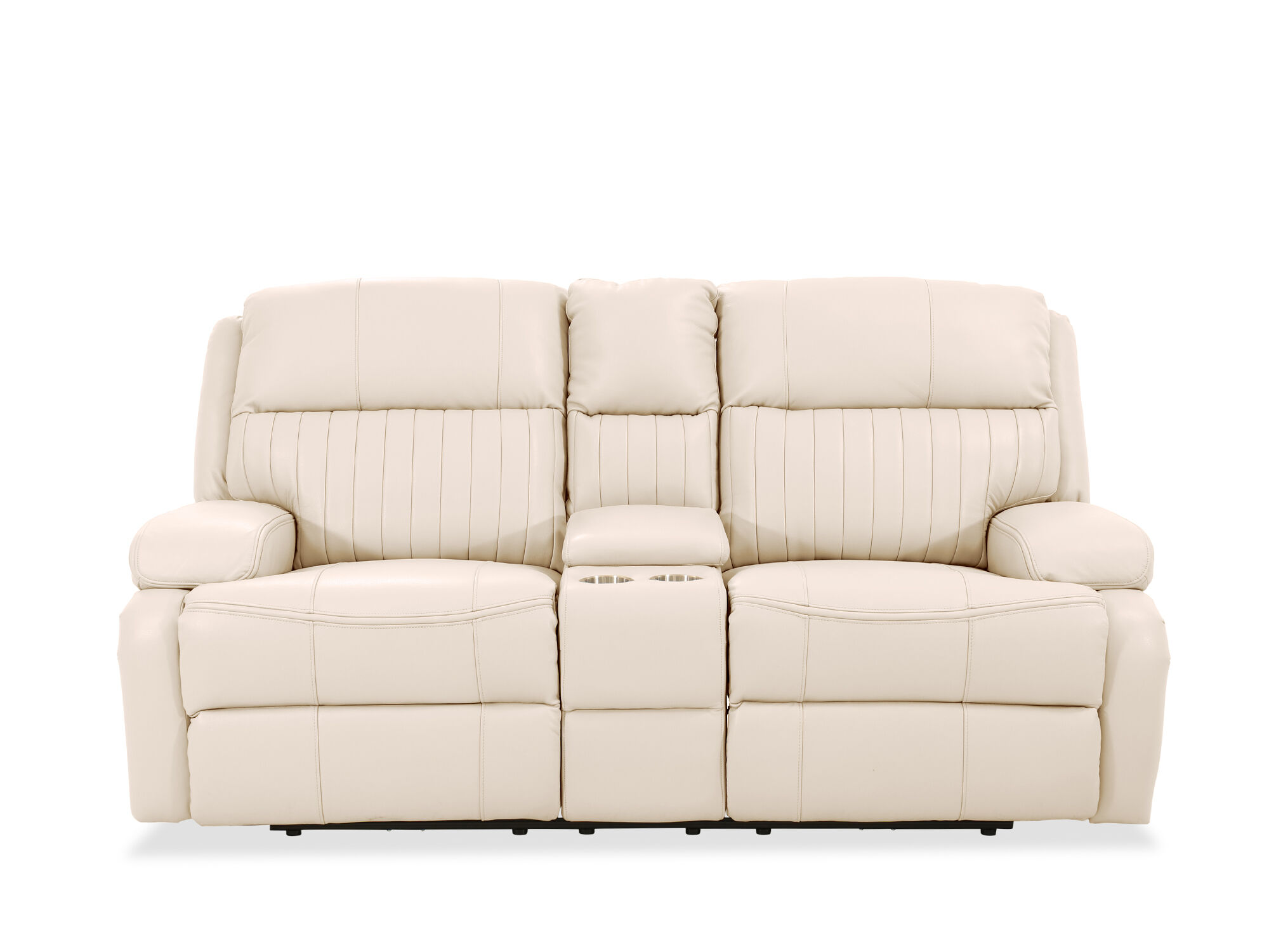 50 inch sofas sofa accent pillow covers channel pleated leather power reclining loveseat in ivory