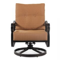Brown Swivel Chair Salon Chairs Textured Aluminum In Mathis Brothers