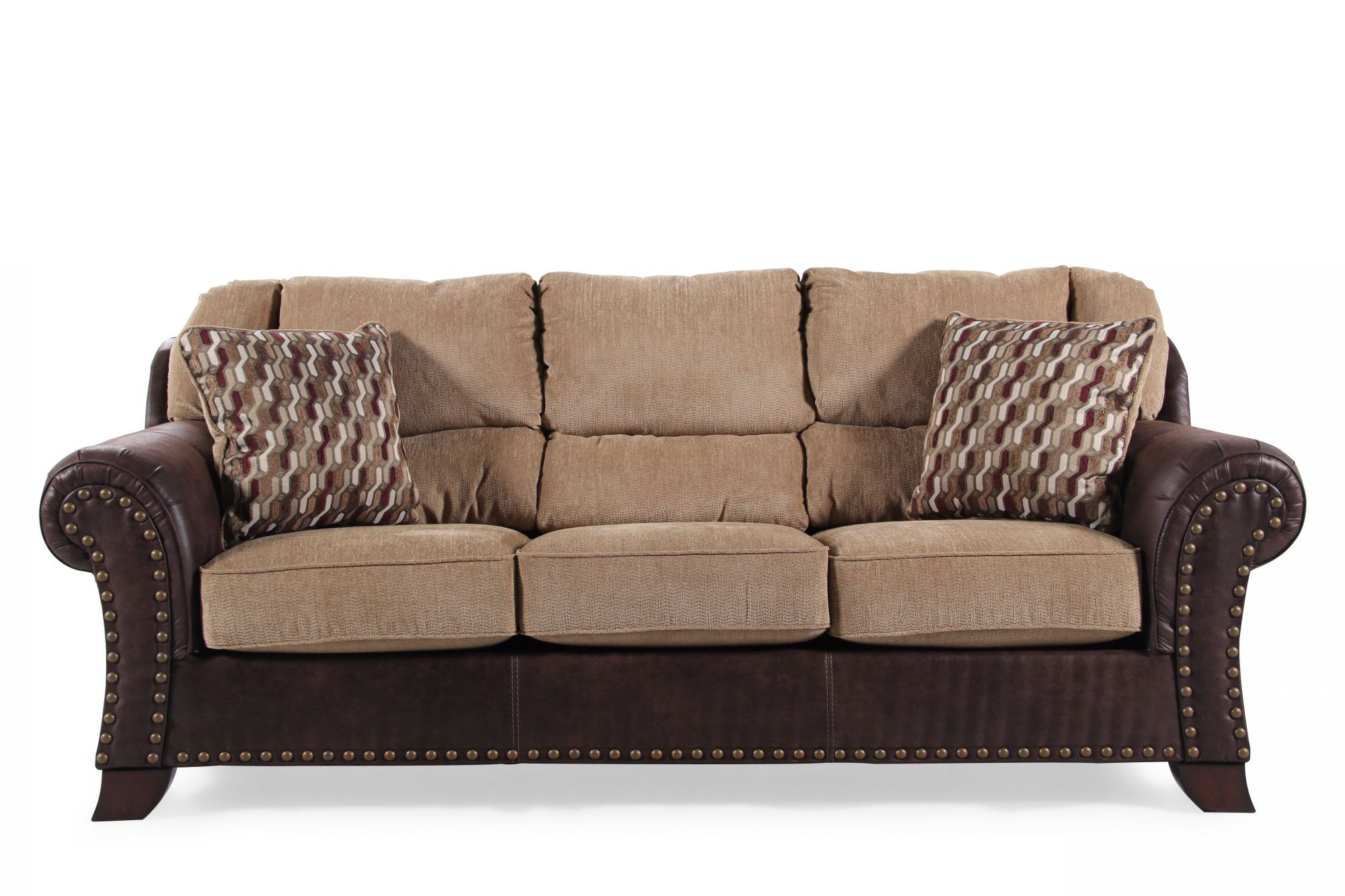 ashley furniture montgomery sofa small office sofas uk mocha casual traditional brown