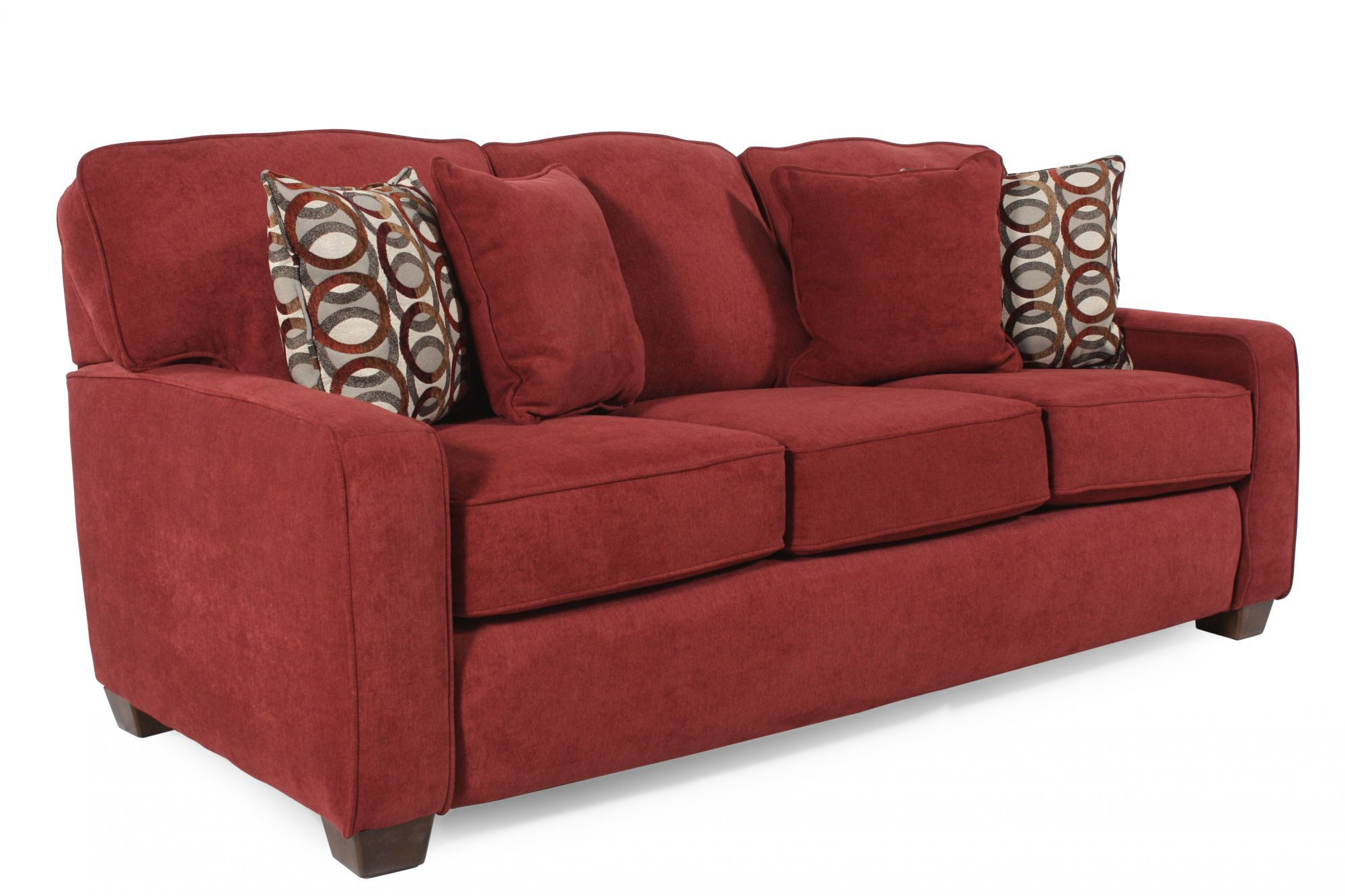 lane sleeper sofa queen recliner packages i rest casual 82 quot in red berry mathis