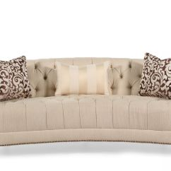 Tufted Button Sofa Donate Pick Up Demilune In Cream Mathis Brothers
