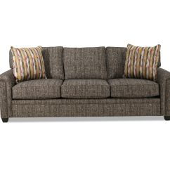 Grey Carleton Nailhead Sofa Queen Bed With Memory Foam Mattress Accented 92 Quot In Gray Mathis Brothers Furniture