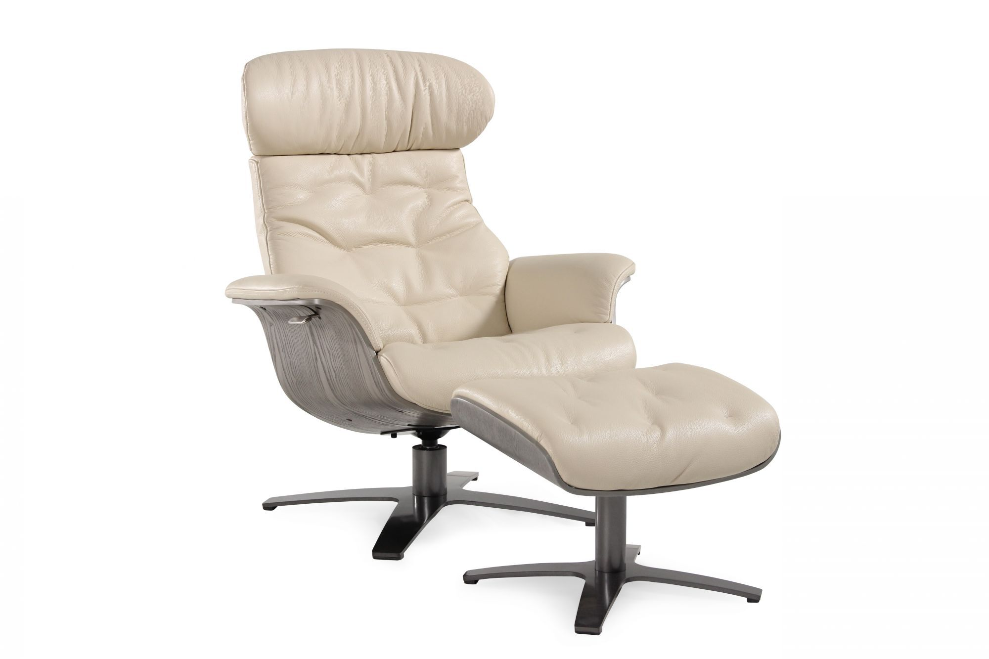 recliner vs chair with ottoman wheelchair equipment contemporary swivel and in cream mathis