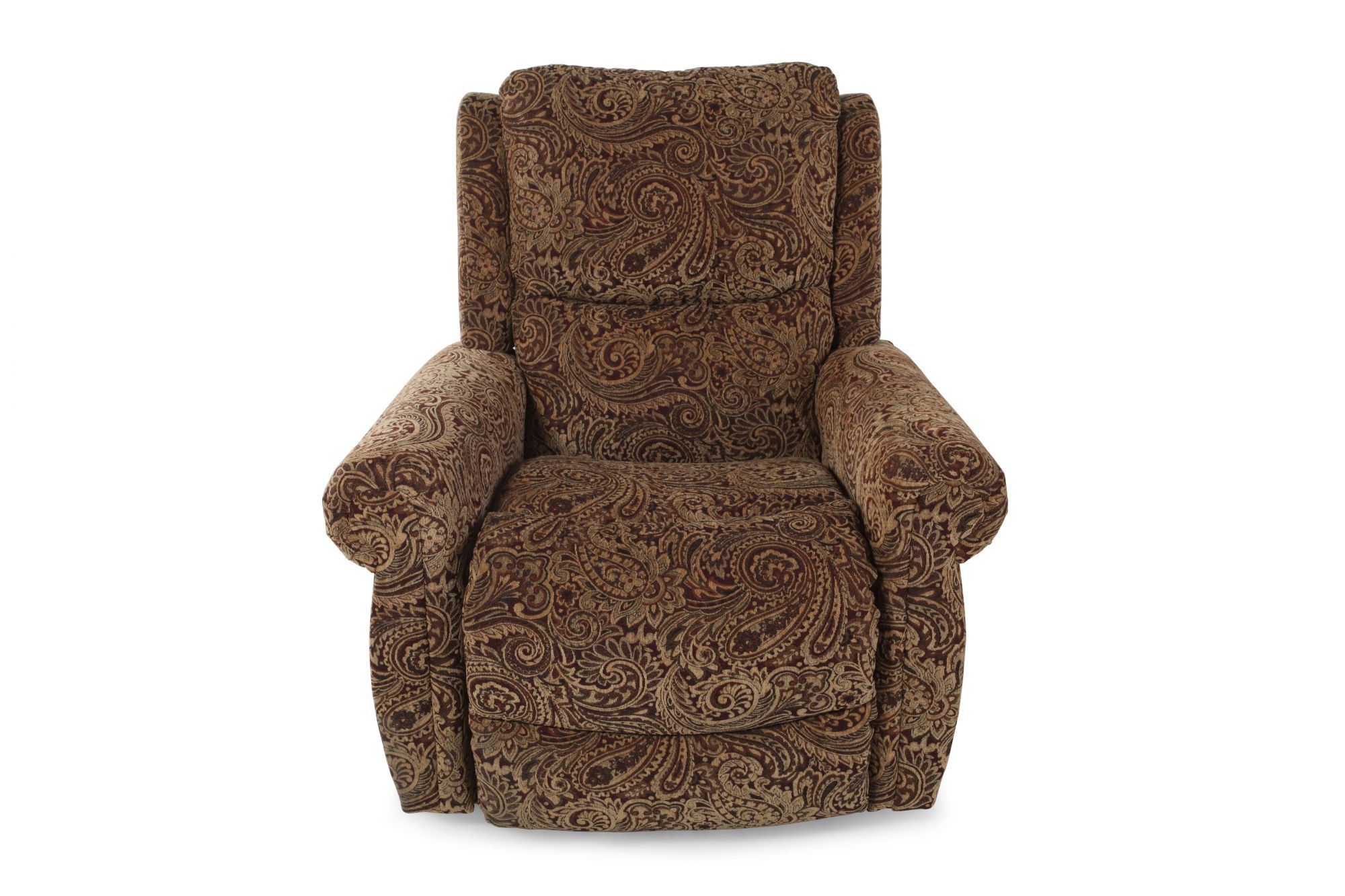 TapestryPatterned 37 Rolled Arm Recliner  Mathis
