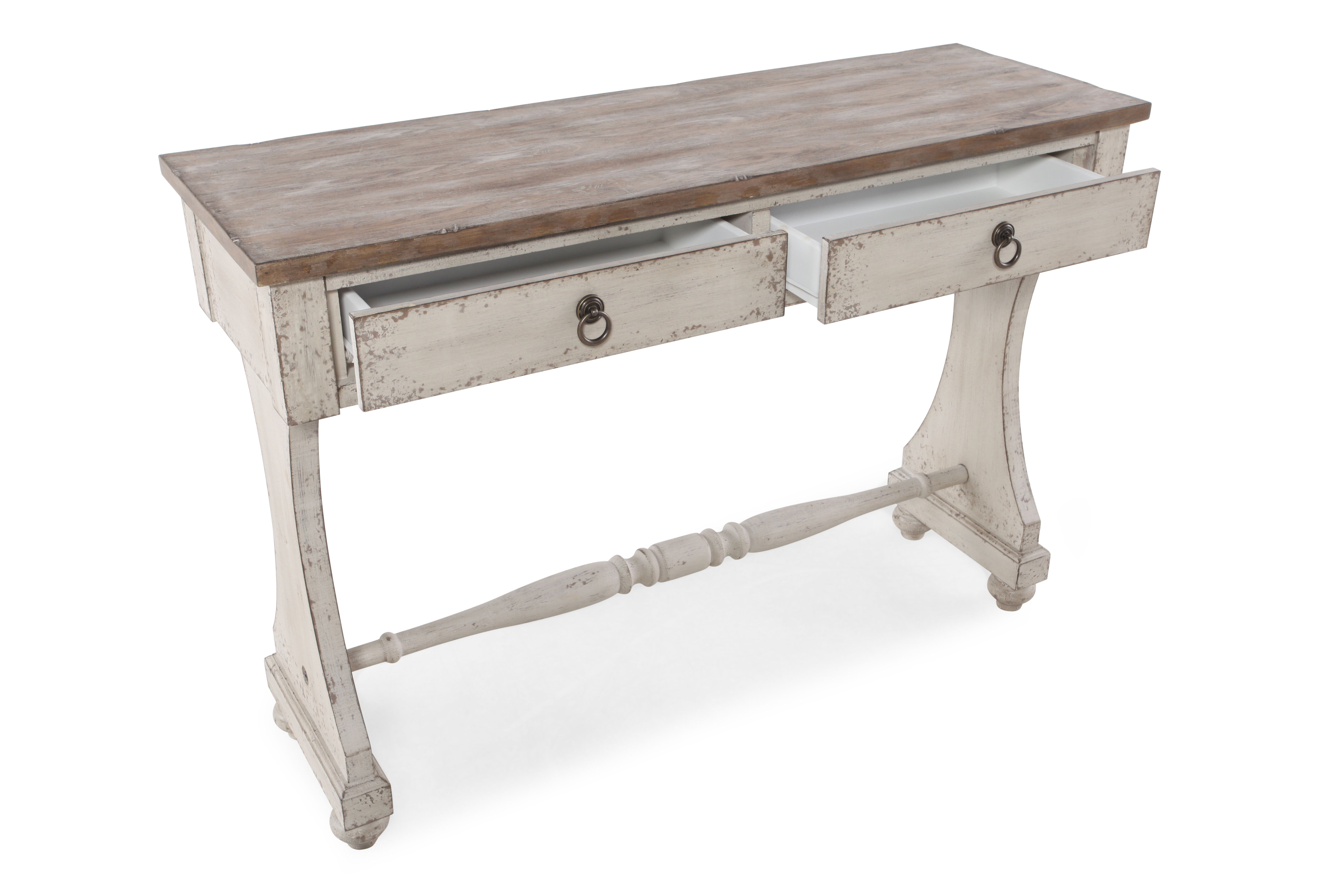 country cote sofa table rent a steam cleaner two drawer console in aged ivory mathis