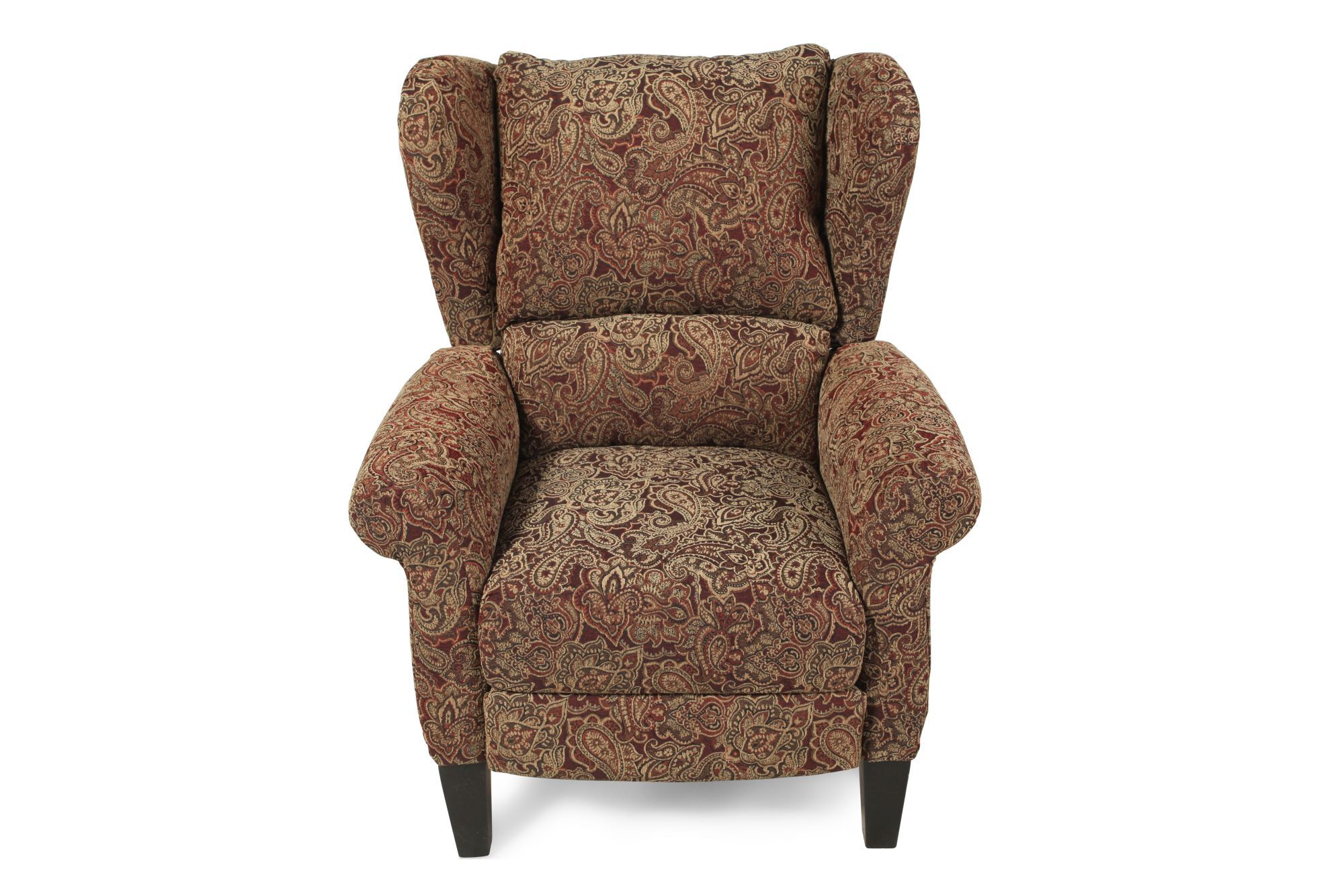 PaisleyPatterned Traditional HighLeg Recliner  Mathis