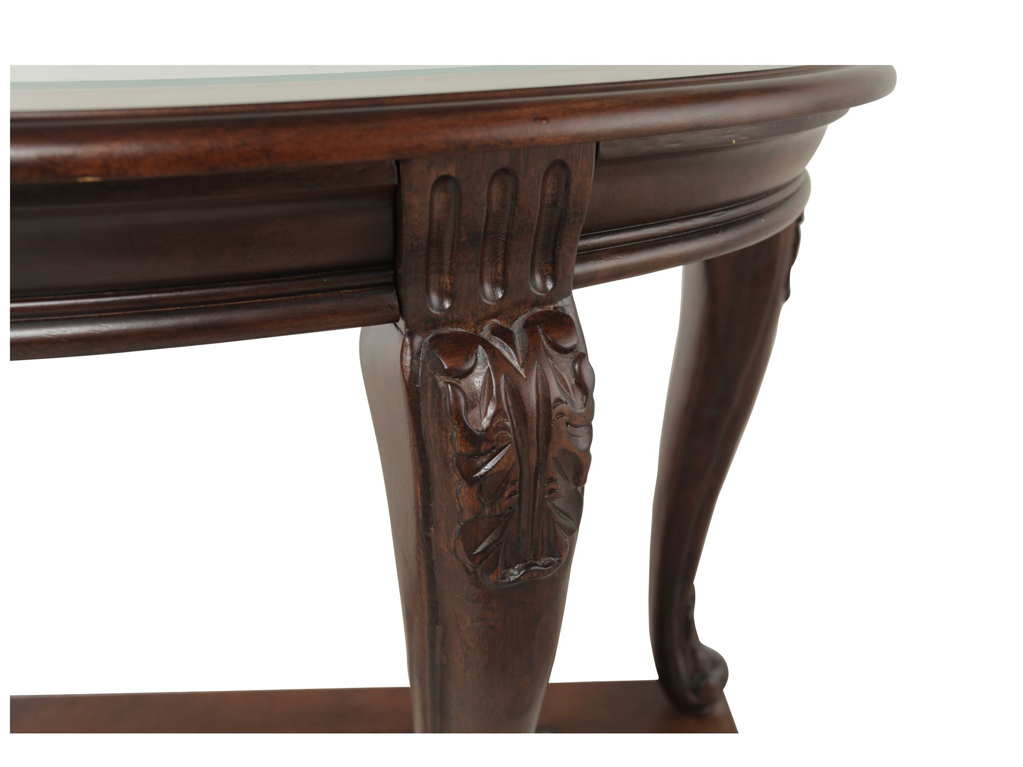 Traditional Chippendale Leg Sofa Table In Brown Mathis