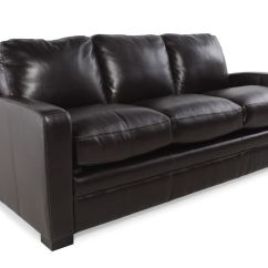 Traditional Sofa Sleeper Lipp Living Divani Leather Queen In Black Mathis