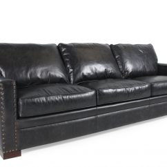 Black Leather Sofa With Nailheads Flexsteel Sectional Sofas Nailhead Accented In Mathis Brothers