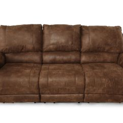 Nailhead Recliner Sofa Leder Fur Esstisch Accented 89 Quot Power Reclining In Dark Brown