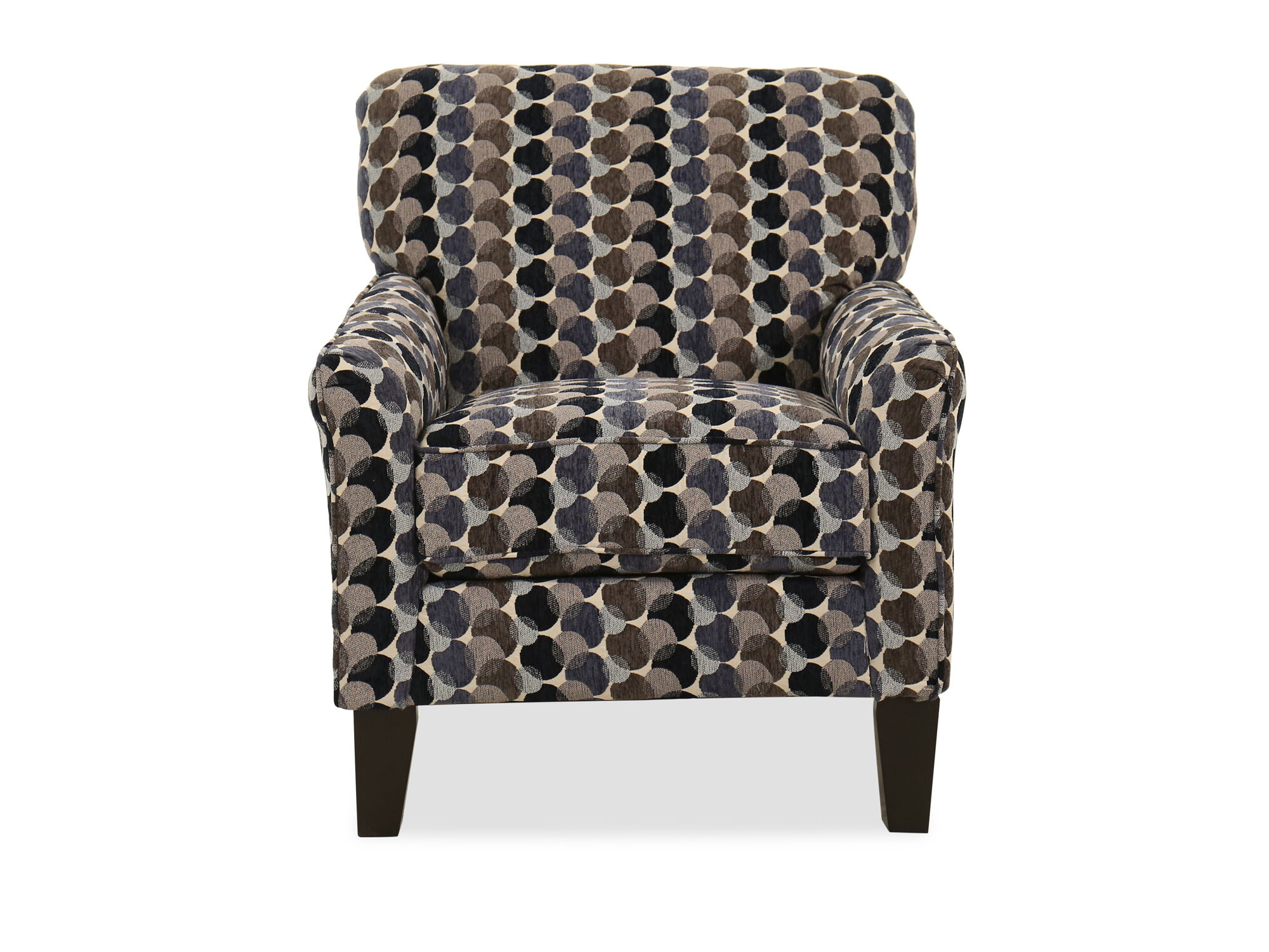 30 Bubble Patterned Transitional Accent Chair In Multi