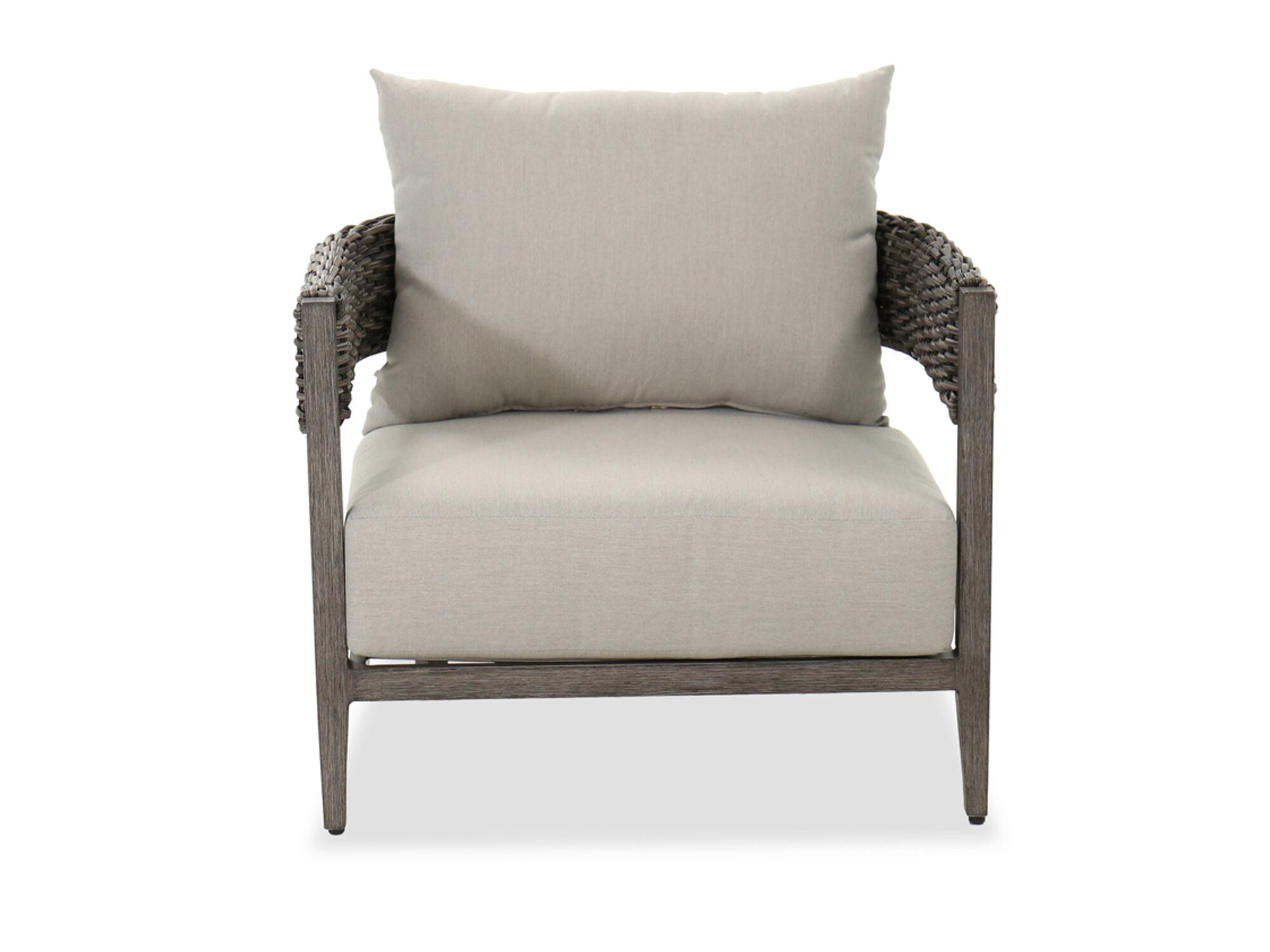 aluminum patio club chair in gray