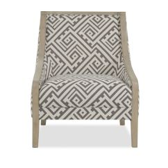 Geometric Accent Chair Pink Hydraulic Salon Patterned Contemporary 28 Quot Mathis