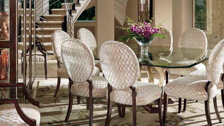 marge carson chairs medical toilet chair image designer furniture mathis brothers dining room table and