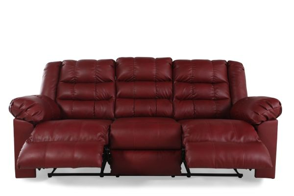Ashley Brolayne Garnet Reclining Sofa Mathis Brothers