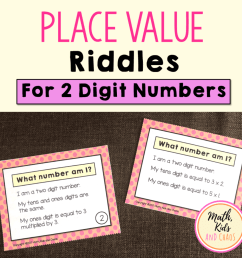 Place value riddles (for 2 and 3 digit numbers) - Math [ 1024 x 1024 Pixel ]
