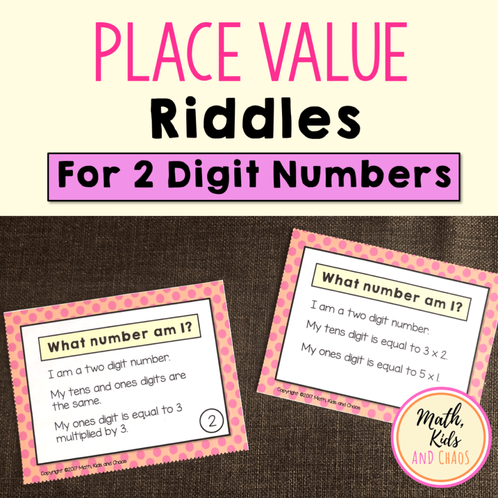 hight resolution of Place value riddles (for 2 and 3 digit numbers) - Math