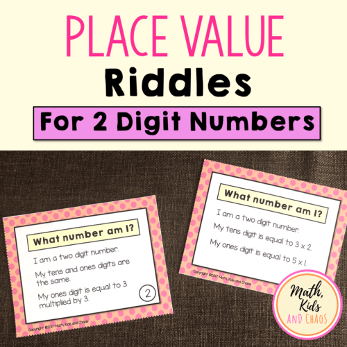 small resolution of Place value riddles (for 2 and 3 digit numbers) - Math