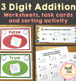 3 Digit addition with regrouping worksheet (FREEBIE!) - Math [ 1024 x 1024 Pixel ]