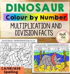Dinosaur math worksheets (for multiplication and division facts) - Math [ 1024 x 1024 Pixel ]