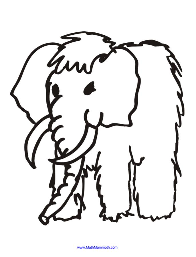 Mathy — the mascot for Math Mammoth