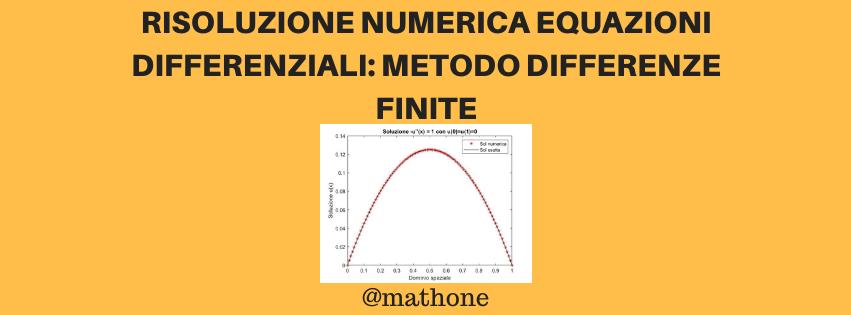 Differenze finite: metodo numerico