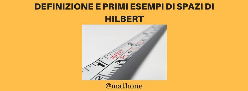 spazi di Hilbert