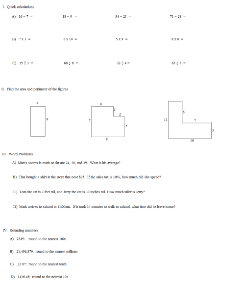 small resolution of Math Plane - 3rd Grade Worksheets