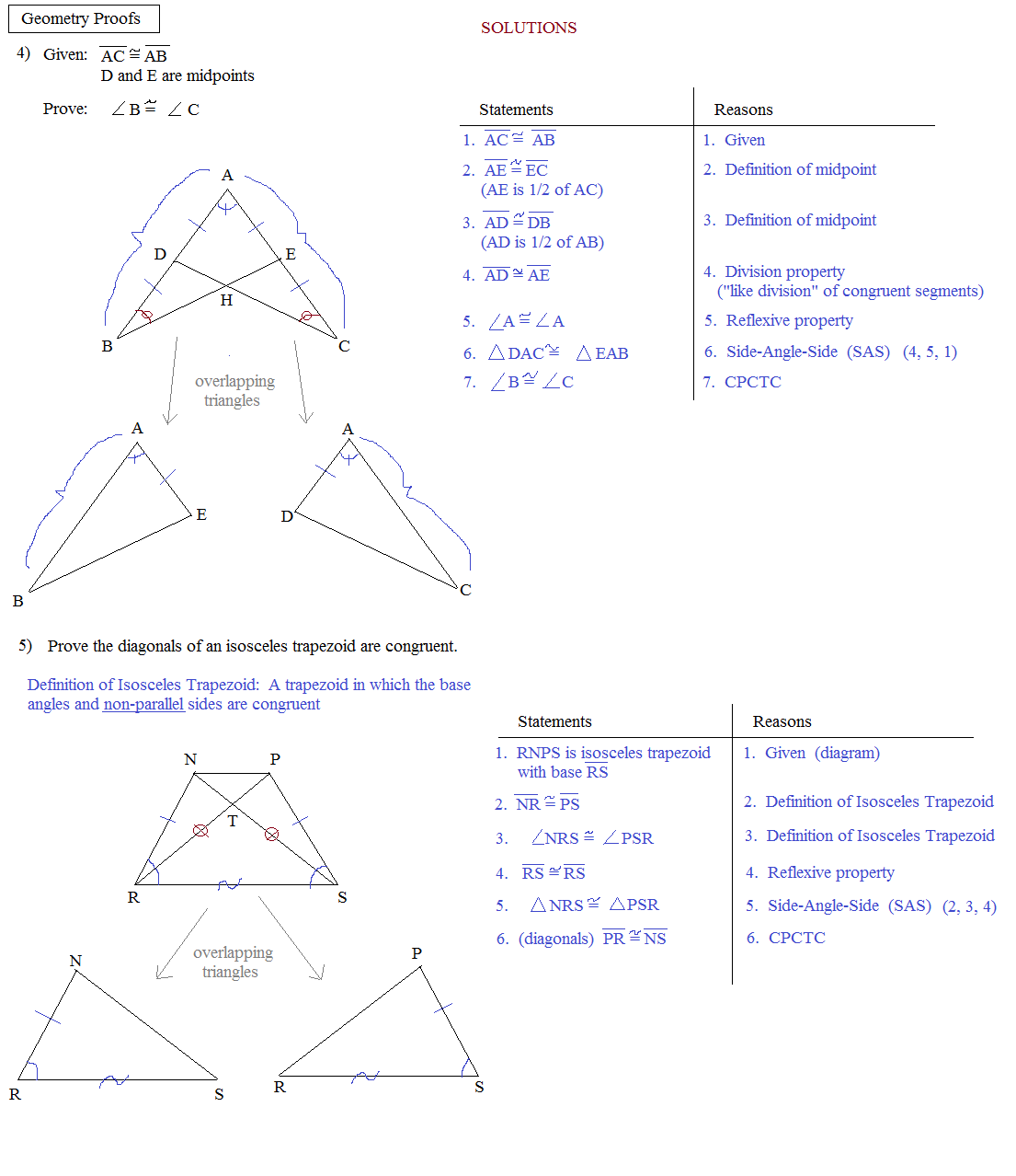 Proving Congruent Triangles Worksheet With Answers