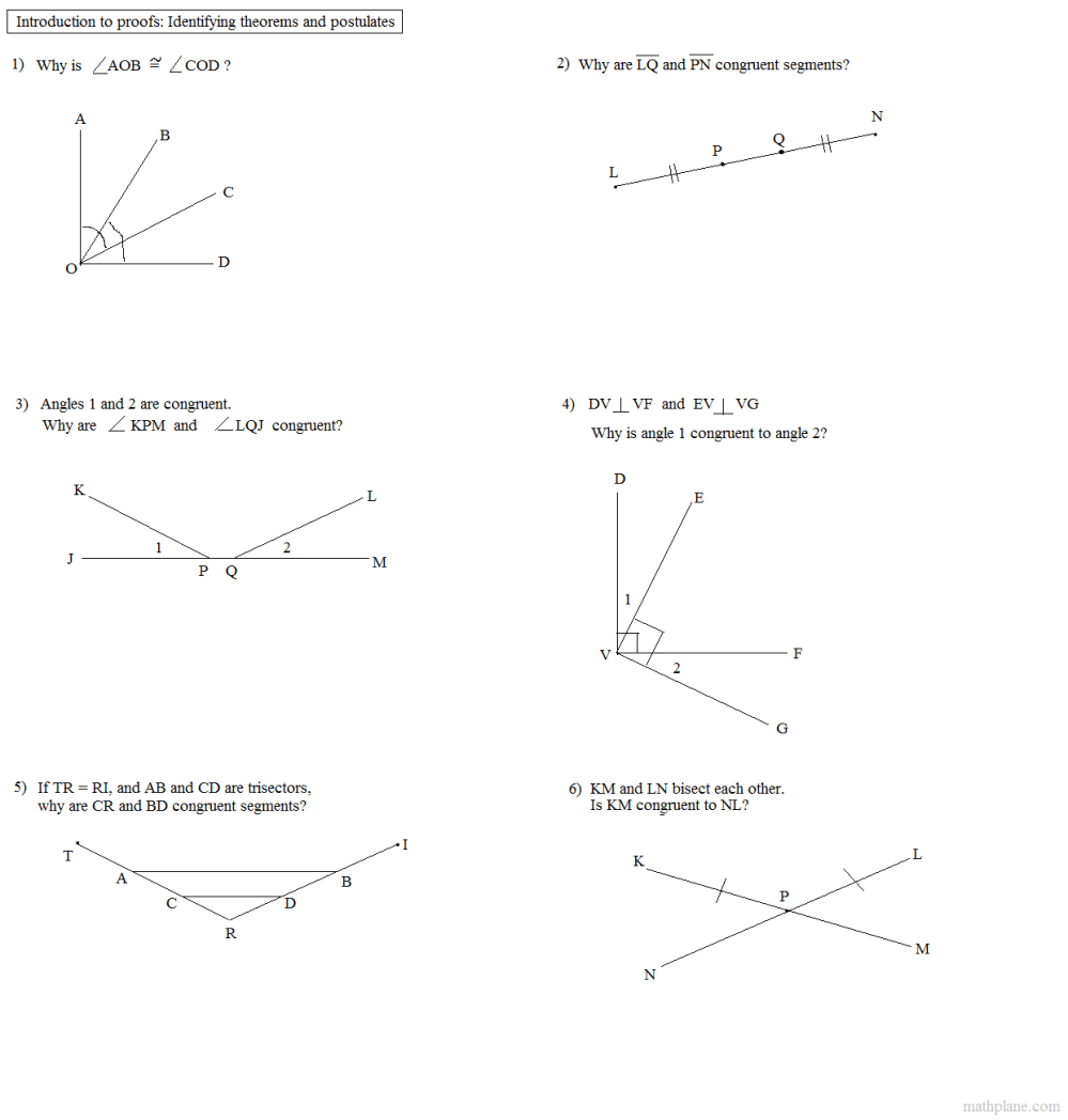 medium resolution of Angle Proofs Worksheet With Answers - Nidecmege