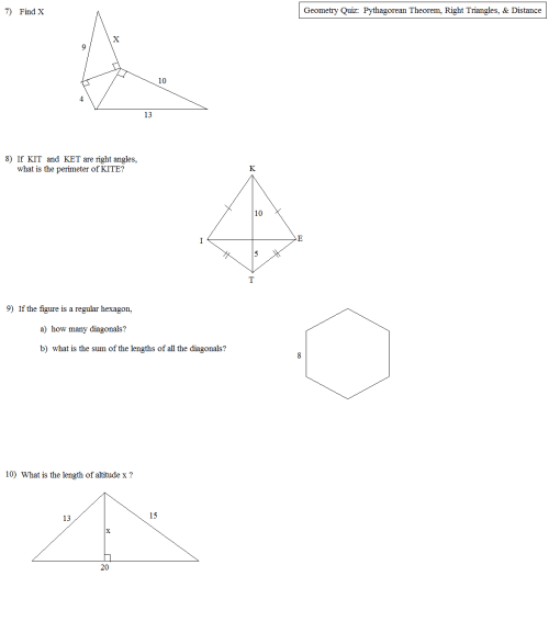 small resolution of 3d Pythagoras Worksheet   Printable Worksheets and Activities for Teachers