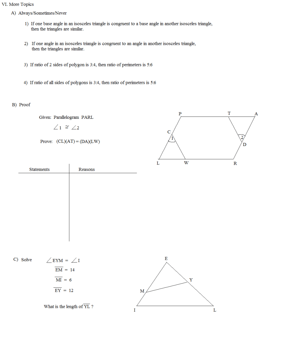 medium resolution of Are The Figures Similar Worksheet   Printable Worksheets and Activities for  Teachers