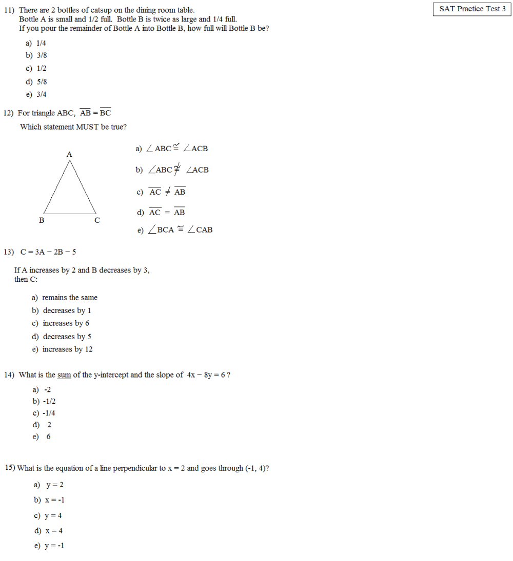 medium resolution of Systems Of Linear Equations Practice Test - Tessshebaylo