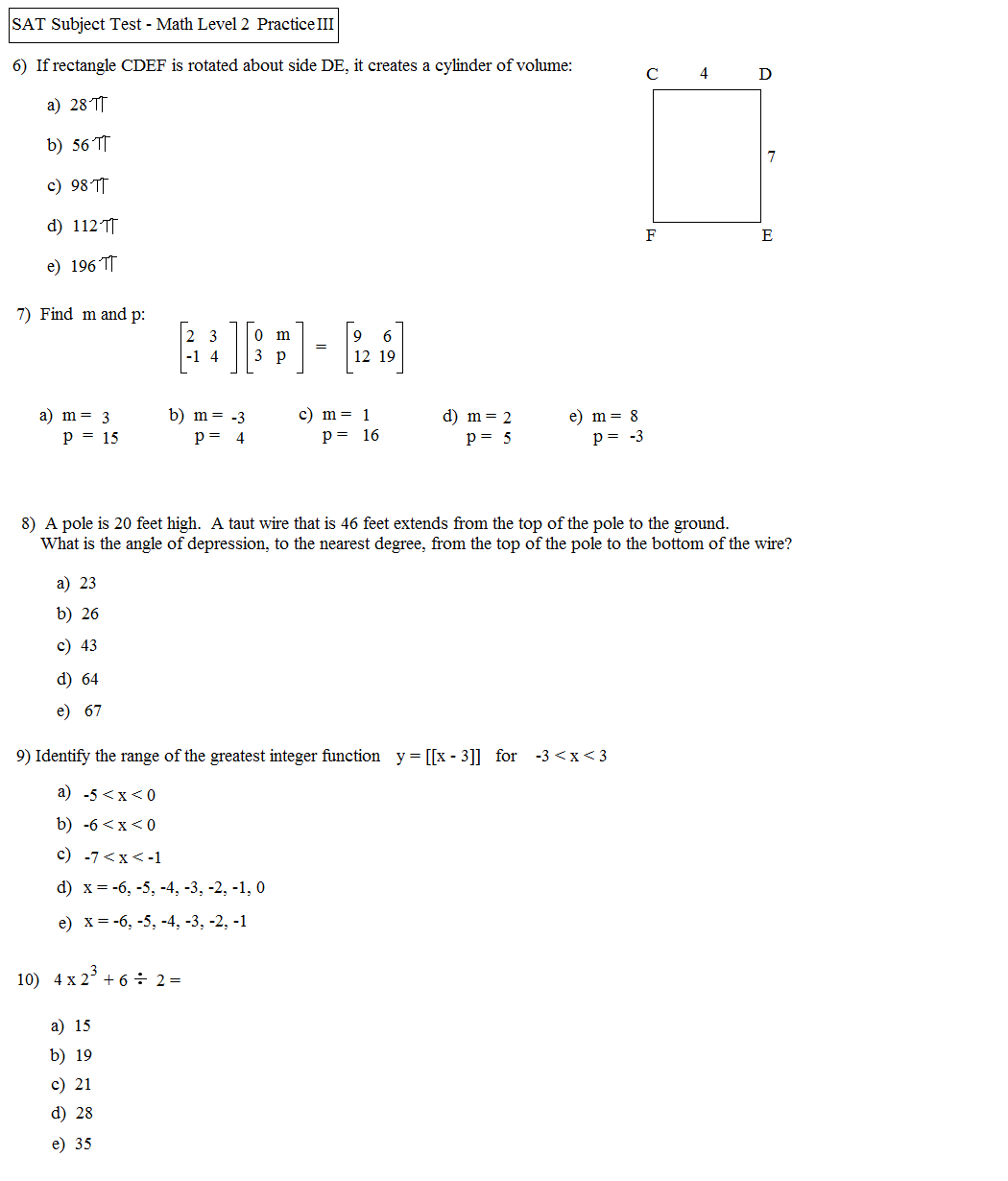 What Can I Study For The Math Portions Of The Sat