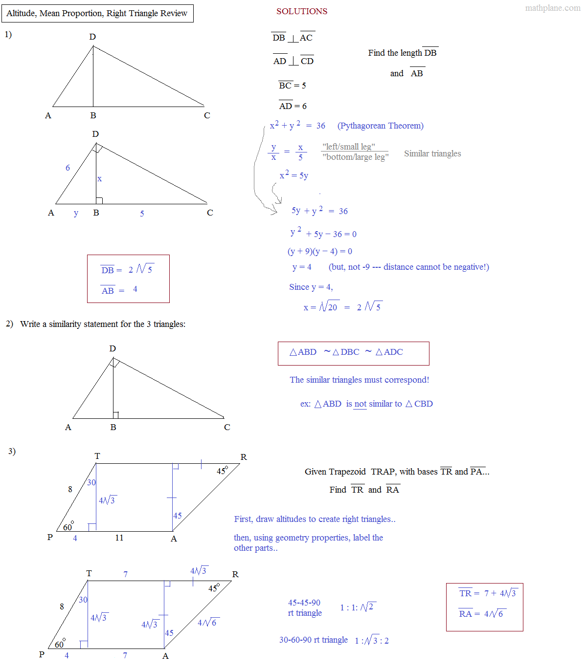 Worksheet Similarity In Right Triangles Worksheet Grass