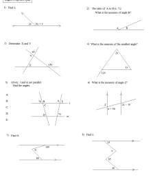 Vertical Angles Worksheet   Printable Worksheets and Activities for  Teachers [ 1257 x 1109 Pixel ]