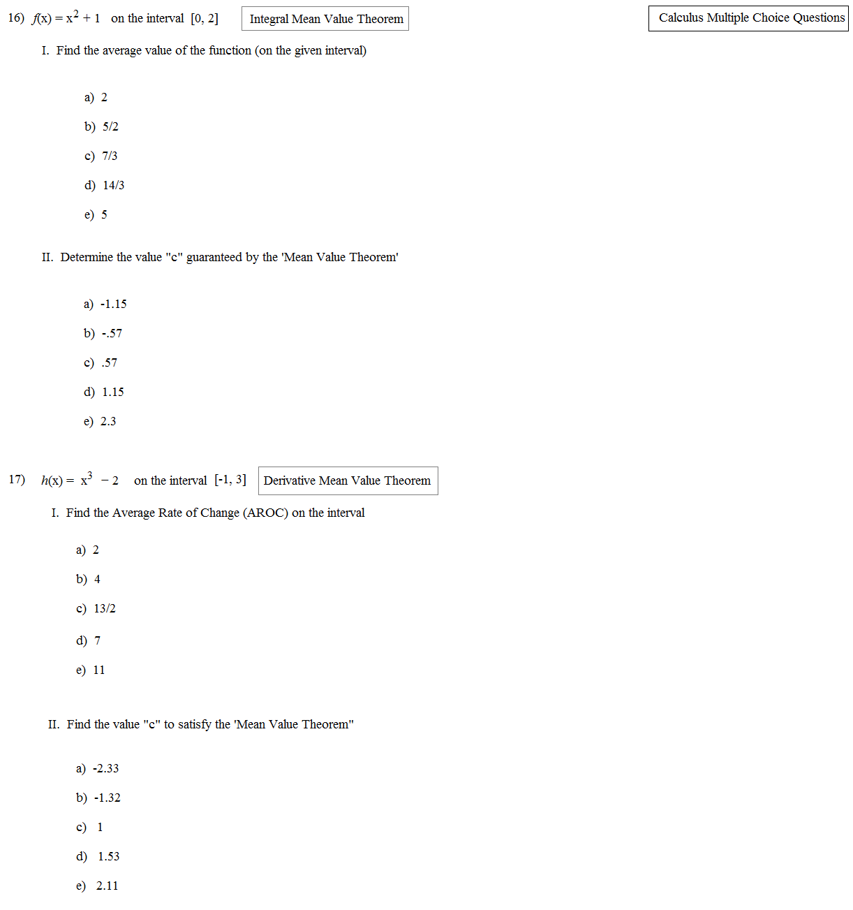 Linear Equations Worksheet Multiple Choice