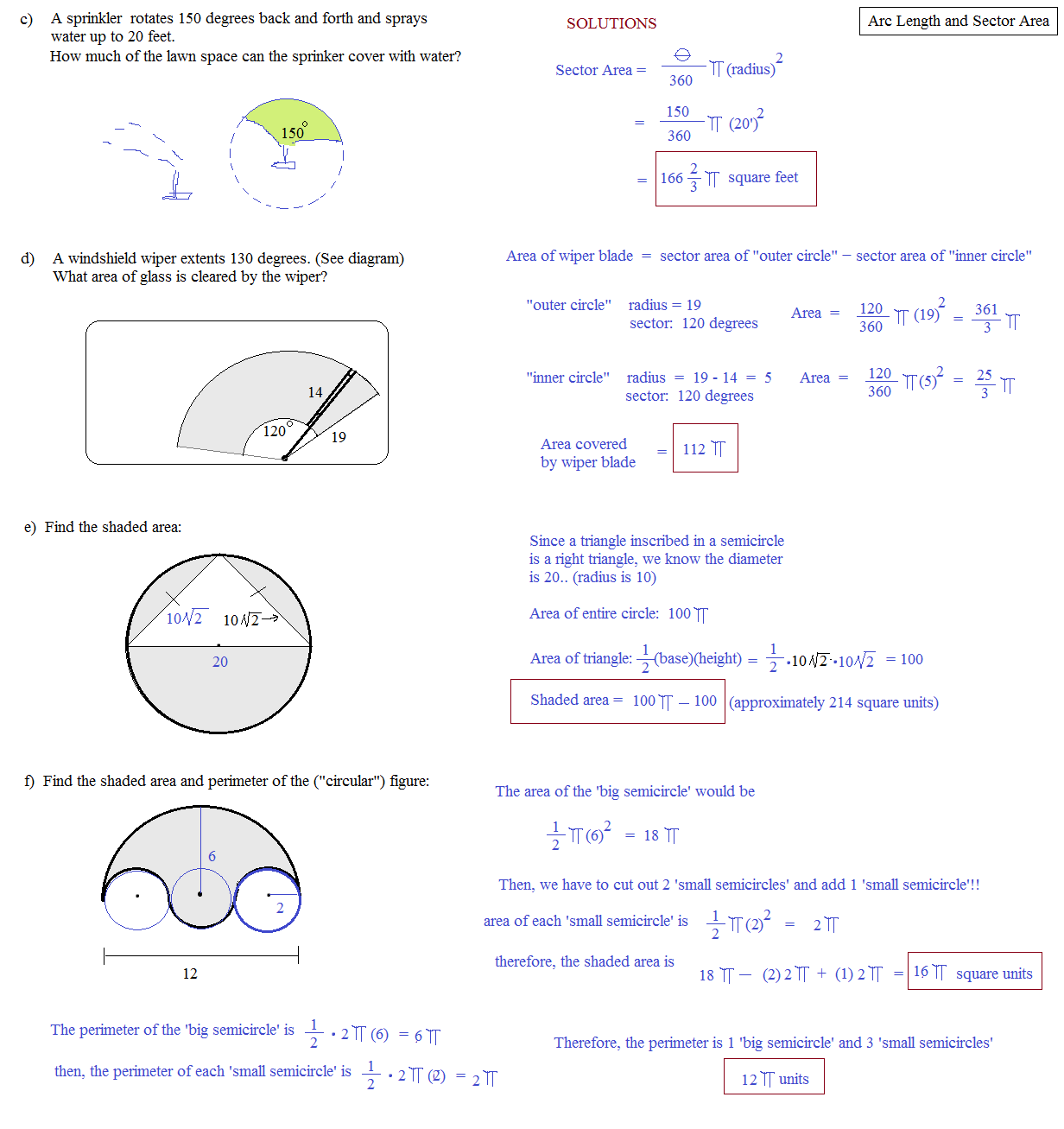 Degrees Radians Unit Circle Worksheet Answers