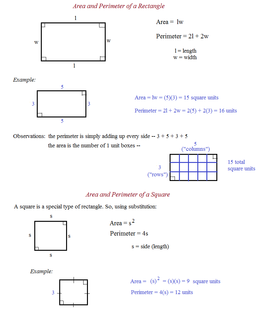 hight resolution of Math Plane - Area and Perimeter of Polygons 1