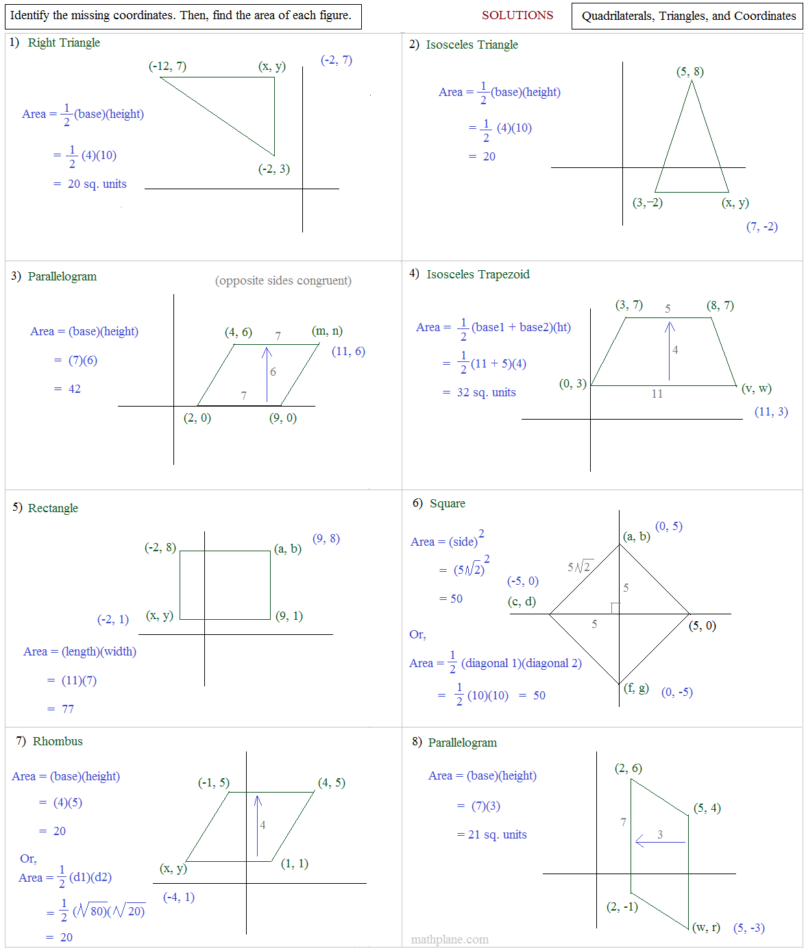 Worksheet Area Of Polygon Worksheet Worksheet Fun
