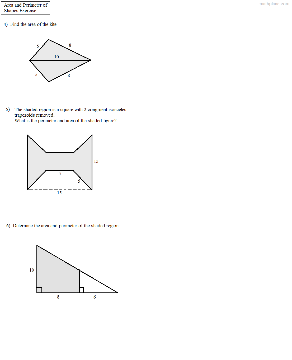 Worksheet Composite Figures Area Worksheet Grass Fedjp