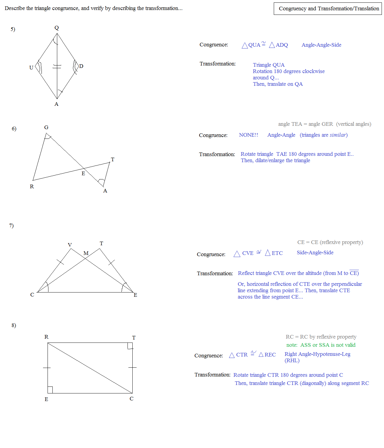 Worksheet Congruent Triangles Worksheet Answers