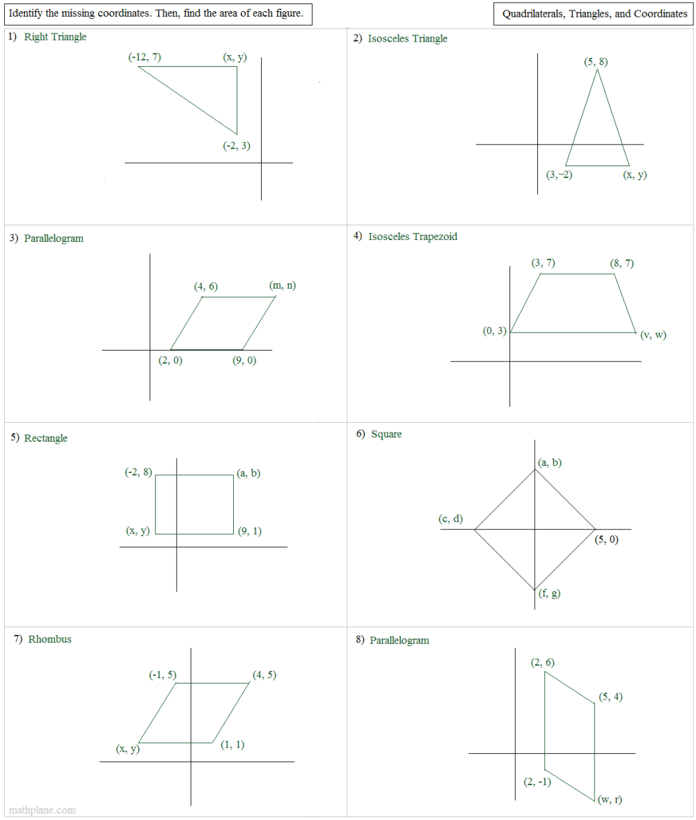 medium resolution of On The Coordinate Plane Trigonometry Worksheet   Printable Worksheets and  Activities for Teachers