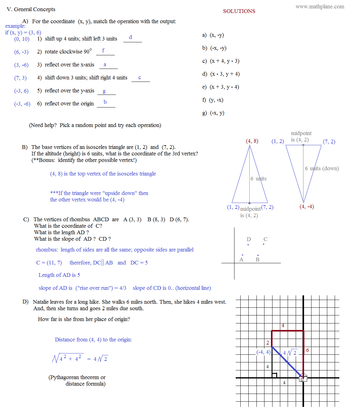 Reflection Worksheet Third Grade