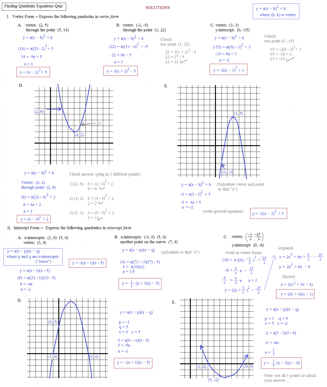 Worksheet Graphing Quadratic Functions In Standard Form Worksheet Grass Fedjp Worksheet Study Site