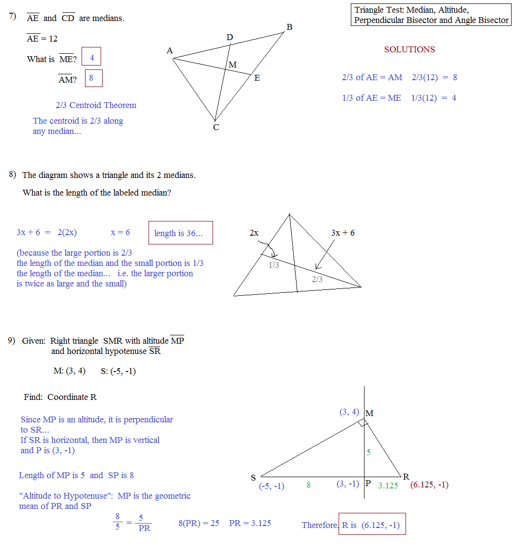 Geometry Practice Problems With Answers