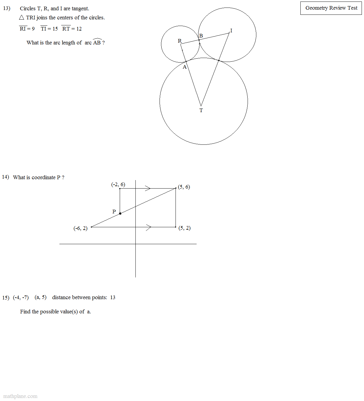 Geometry Worksheet Reflection Drawing